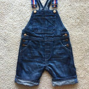 H&M Toddler Boy's Shorts Denim Overall Size 2T/3T